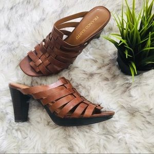 Franco Sarto Weaved Leather Heels